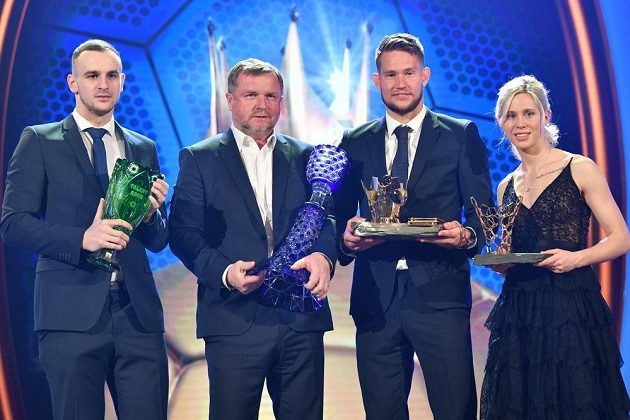 Zleva David Lischa, Pavel Vrba, Tomáš Vaclík a Kateřina Svitková