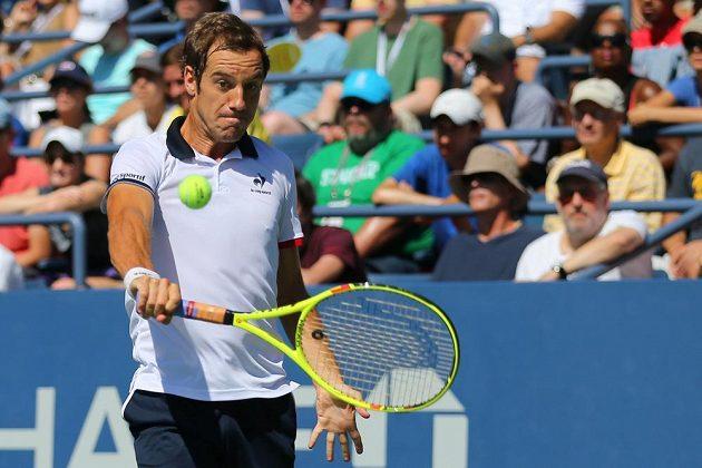 Francouzský tenista Richard Gasquet při zápase 3. kola US Open proti Australanovi Bernardu Tomicovi.