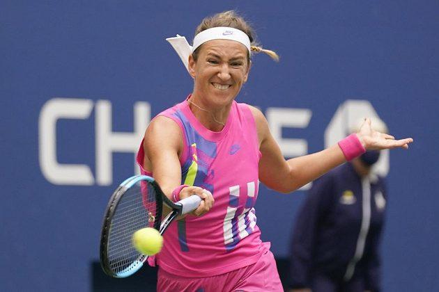 Běloruská tenistka Victoria Azarenková ve finále US Open.
