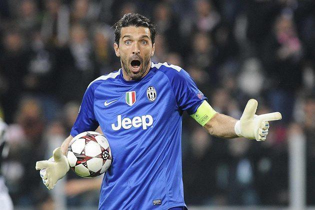 Reakce brankáře Juventusu Gianluigiho Buffona v utkání LM proti Realu Madrid.
