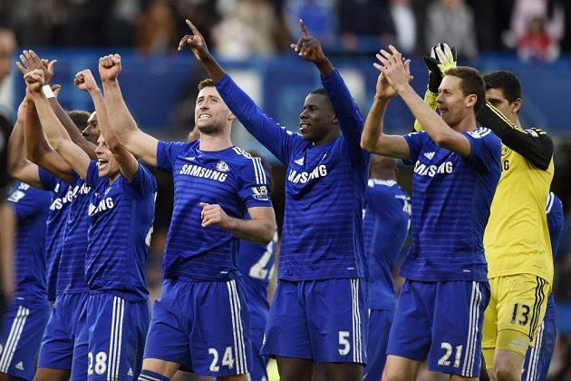 Radost hráčů Chelsea.