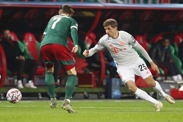 Fotbalisté Bayernu Mnichov v zápase proti Lokomotivu Moskva