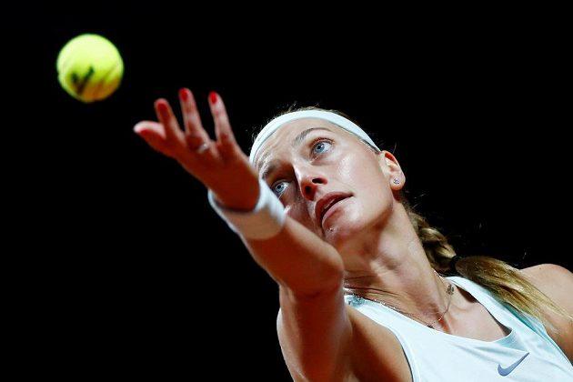 Petra Kvitová ve finále turnaje ve Stuttgartu.