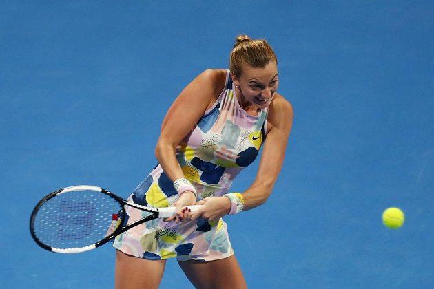 Česká tenistka Petra Kvitová ve finále turnaje v Dauhá.