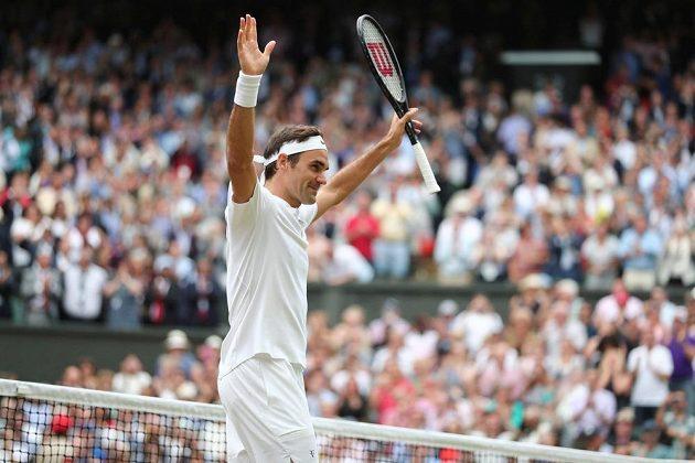 Švýcar Roger Federer po wimbledonském semifinále s Tomášem Berdychem.