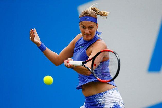Česká tenistka Petra Kvitová ve čtvrtfinále v Birminghamu.