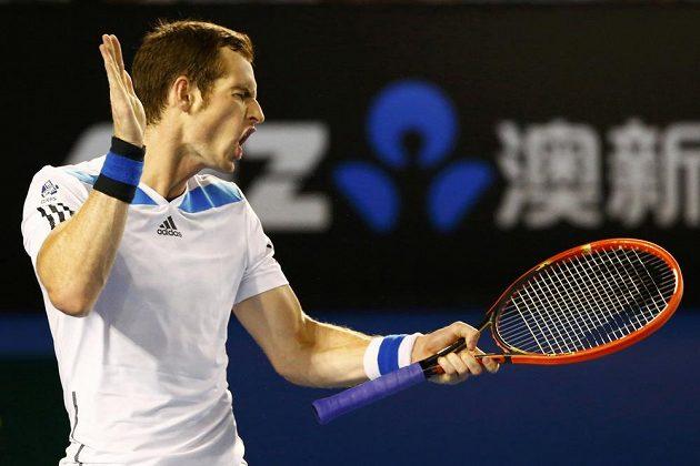 Gesto Andyho Murrayho ve čtvrtfinále Australian Open.