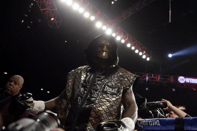 Nástup Deontaye Wildera z USA před duelem o titul mistra světa v těžké váze organizace WBC.
