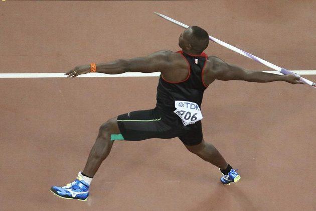 Keňan Julius Yego zahodil svůj oštěp až do vzdálenosti 92,72 metru.