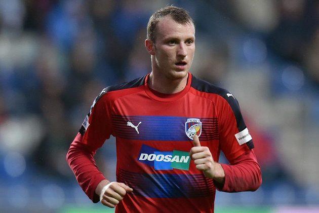 Michael Krmenčík z Plzně v zápase s Mladou Boleslaví.