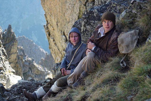Vavřinec Hradilek (vpravo) při natáčení tatranské scény filmu Tenkrát v ráji.