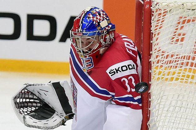 Pavel Francouz při utkání s Kazachstánem.