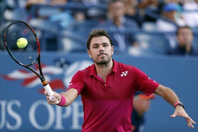 Švýcarský tenista Stan Wawrinka během US Open.
