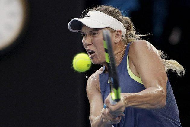 Dánka Wozniacká ve finále Australian Open.