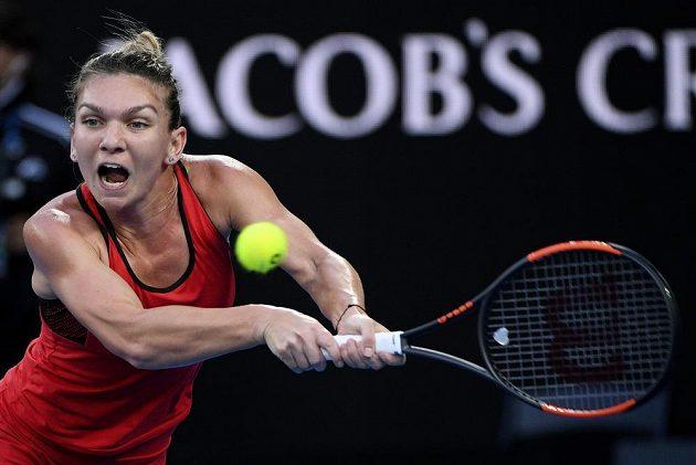 Simona Halepová ve finále australského grandslamu.