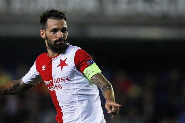 Slávista Danny se raduje, Villarrealu vstřelil druhý gól.