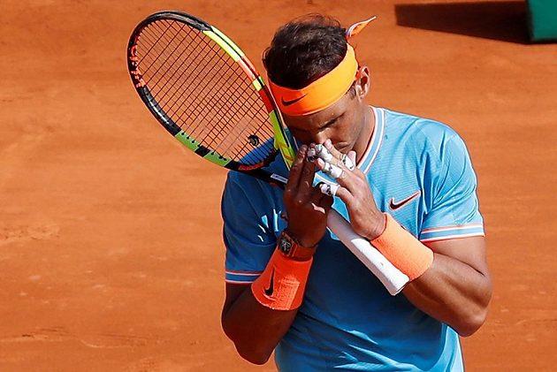 Španělský tenista Rafael Nadal prožívá každý zápas.