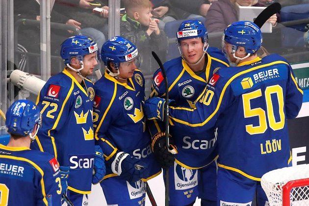 Švédská radost na turnaji Channel One Cup.