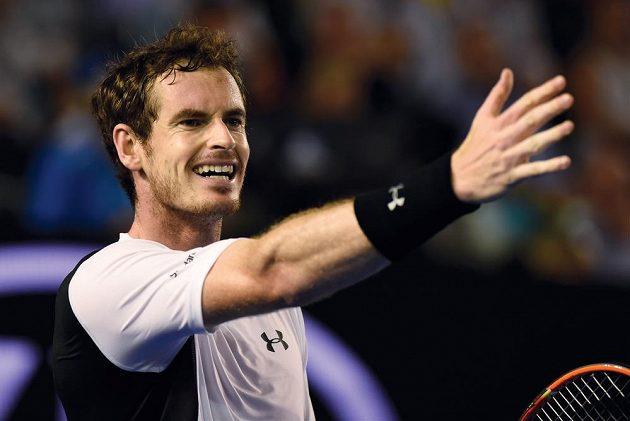 Andy Murray ve čtvrtfinále Australian Open.