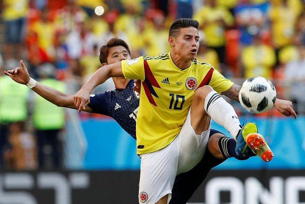 Ani příchod Jamese Rodrígueze na trávník po změně stran Kolumbijcům k obratu v zápasu nepomohl.