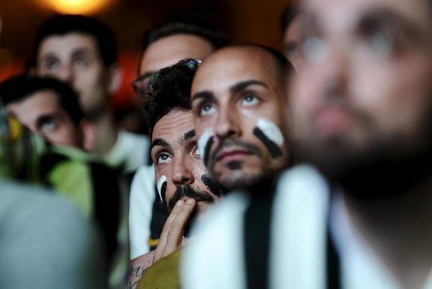 Fanoušci Juventusu během finále Ligy mistrů.