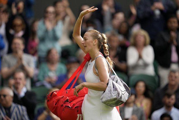 Czech tennis player Petra Kvitová says goodbye to Wimbledon after the first round.