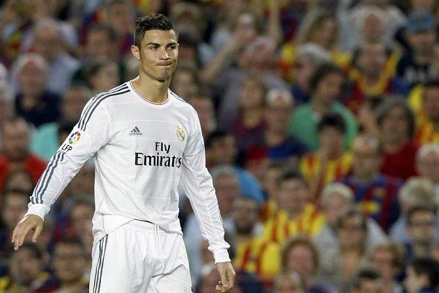 Zklamání ve tváři záložníka Realu Madrid Cristiana Ronalda.