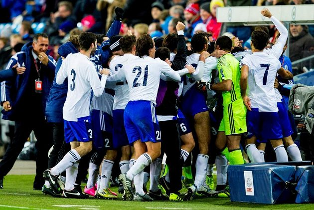 Gól po více než roce. To se musí oslavit. San Marino se dočkalo v Norsku.
