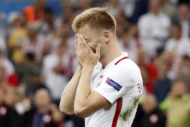 Smutný Polák Jakub Blaszczykowski. Jako jediný nedal ve čtvrtfinále s Portugalskem pokutový kop.