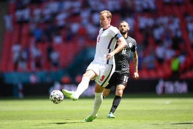 Anglický fotbalový reprezentant Harry Kane v akci.