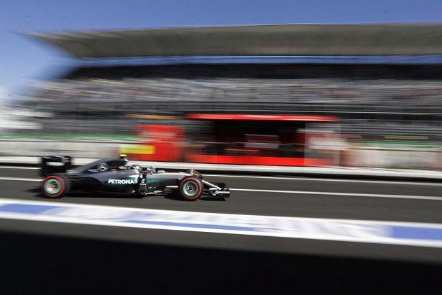 Nico Rosberg z Mercedesu může v neděli slavit titul mistra světa.