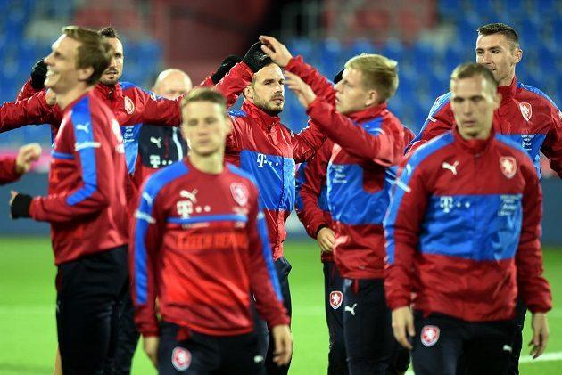 Čeští fotbalisté se v Ostravě připravují na kvalifikační zápas s Ázerbájdžánem.