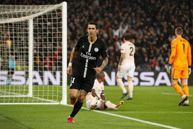 Ángel di María z PSG se raduje z gólu, který nakonec neplatil pro ofsajd.