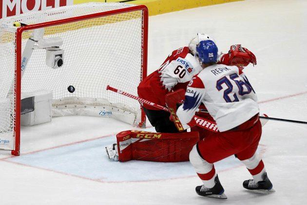 Michal Řepík a jeho druhý gól v utkání s Rakouskem.