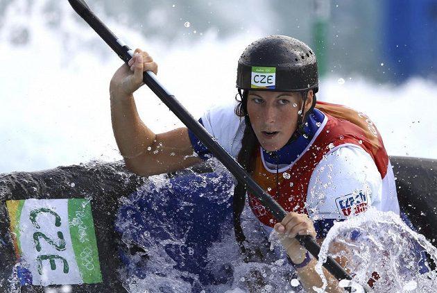 Kajakářka Kateřina Kudějová obsadila v kvalifikaci páté místo.