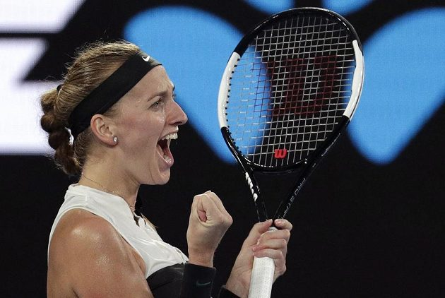 Nadšení, další kolo splněno, Petra Kvitová postoupila do semifinále Australian Open.