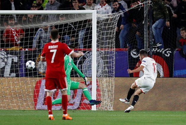 Pablo Sarabia posílá Sevillu do vedení proti Bayernu ve čtvrtfinále Ligy mistrů.