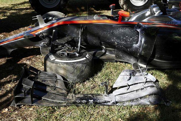 Magnussenův McLaren připomínal kus šrotu...