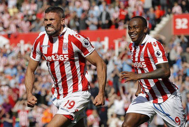 Jonathan Walters ze Stoke měl opravdu velkou radost.