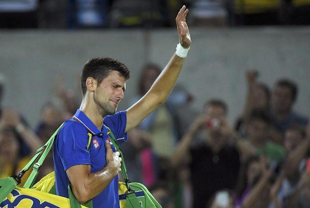 Olympijská rychlovka. Srb Novak Djokovič se v tenisovém pavouku dlouho nezdržel.