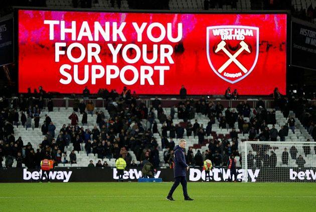Fotbalový West Ham poděkoval fanouškům za podporu v utkání s Liverpoolem.