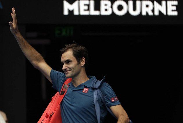 Švýcarský tenista Roger Federer v Melbourne září.