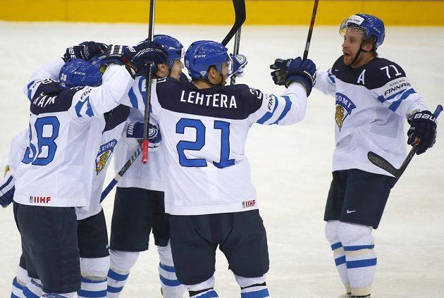Radost finských hokejistů.