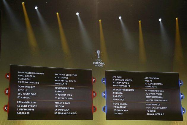 Základní skupiny Evropské ligy jsou rozlosovány.