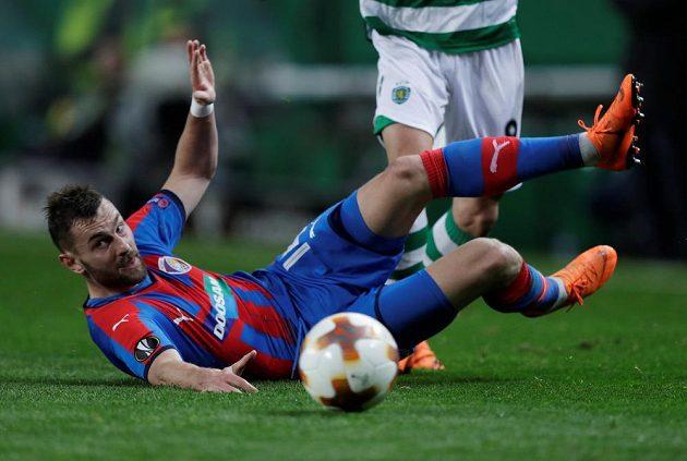 Plzeňský Radim Řezník při utkání Evropské ligy se Sportingem.