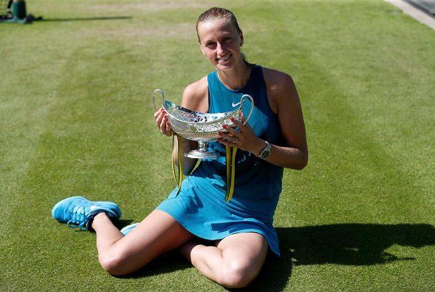 Petra Kvitová obhájila trofej na trávě v Birminghamu.