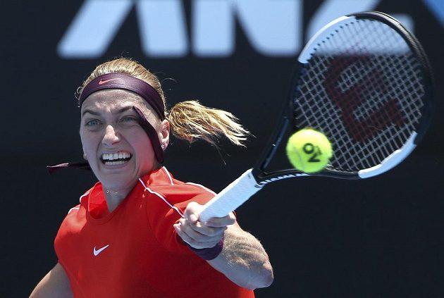 Petra Kvitová vyhrála duel s Běloruskou Arynou Sabalenkovou v Sydney.