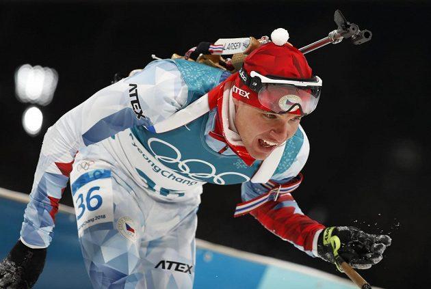 Michal Krčmář po dojetí olympijského sprintu.