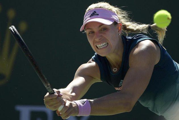 Německá tenistka Angelique Kerberová finále turnaje v Indian Wells prohrála.