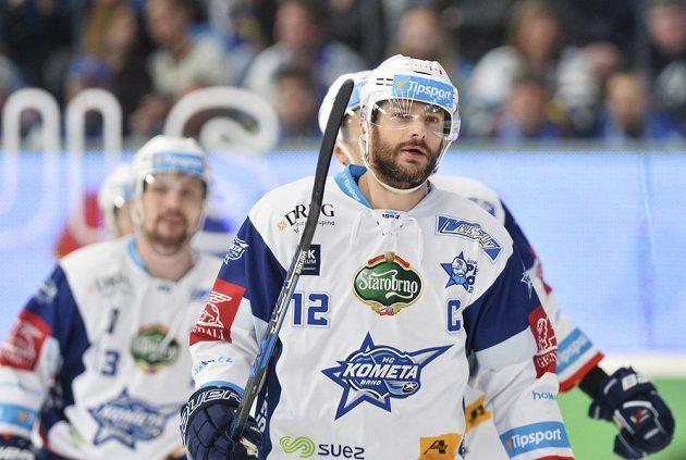 Kapitán brněnského týmu Leoš Čermák přispěl k výhře v pátém semifinále nad Plzní jedním gólem.
